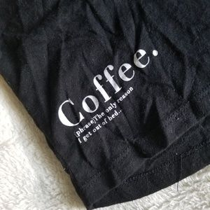 """Coffee"" T Bar Tee"